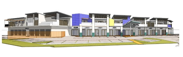 Medical Centre & offices, residential units over