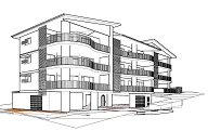 Design for 3 Storey Units plus basement at Chermside